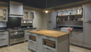 french cabinetry Alder maulnes lacquered gray b