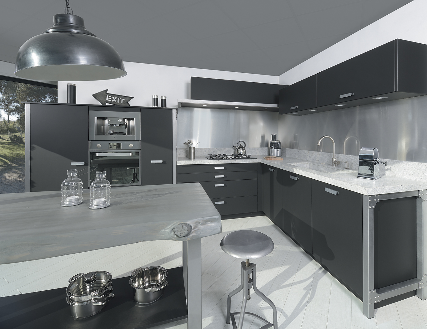 french cabinetry black laminate fenix 1