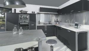 french cabinetry black laminate fenix b