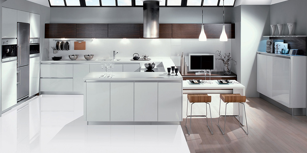 Handle Less French Cabinetry Modern Kitchen